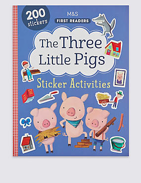 The Three Little Pigs Sticker Book, , catlanding