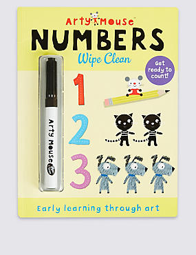 Arty Mouse Numbers Wipe Clean Book, , catlanding