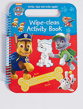 Paw Patrol Wipe-Clean Activity Book, , catlanding