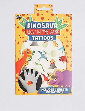 Glow in the Dark Dinosaur Tattoos, , catlanding