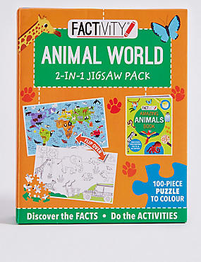 Factivity Animal World Puzzle Game, , catlanding