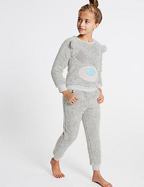 Tatty Teddy™ Applique Pyjamas (2-16 Years), GREY MARL, catlanding