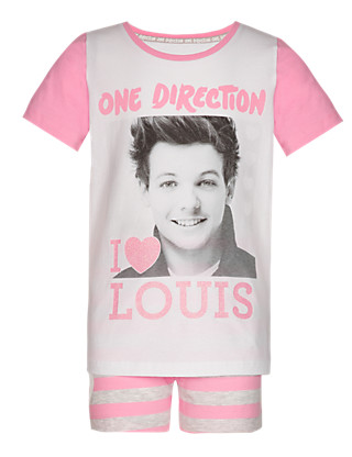 Cotton Rich One Direction Short Pyjamas - Louis (5-14 Years) Clothing
