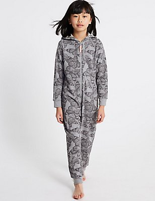 Butterfly Hooded Onesie (3-16 Years), INDIGO MIX, catlanding