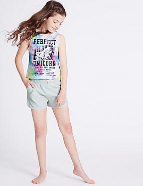 Pyjashort 100% coton (du 3 au 16ans), MULTI, catlanding