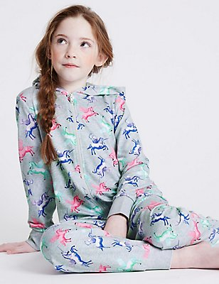 Pure Cotton Unicorn Onesie (1-16 Years), MULTI, catlanding