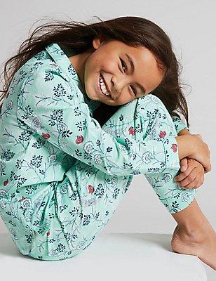 Pure Cotton All Over Print  Pyjamas (1-16 Years), JADE MIX, catlanding
