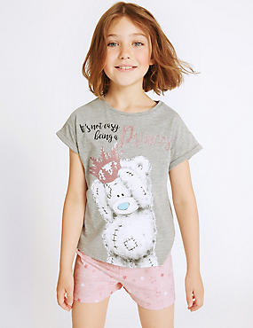 Printed Short Pyjamas (2-16 Years), GREY MIX, catlanding