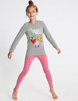 Cotton Rich Shopkins Pyjamas (4-10 Years), PINK MIX, catlanding