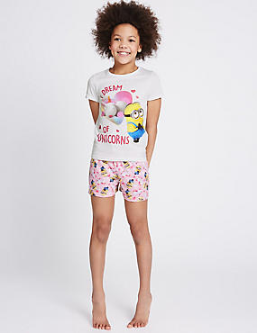 Despicable Me™ Minions Short Pyjamas (3-14 Years), WHITE MIX, catlanding