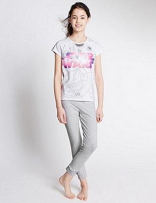 Star Wars™ Stay Soft Pyjamas (6-16 Years), WHITE MIX, catlanding