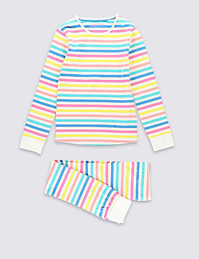Cotton Rich Multi-Striped Stay Soft Pyjamas (1-16 Years)