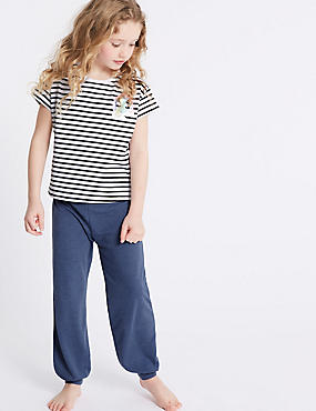 Lounge Striped Pyjamas (3-16 Years), WHITE MIX, catlanding