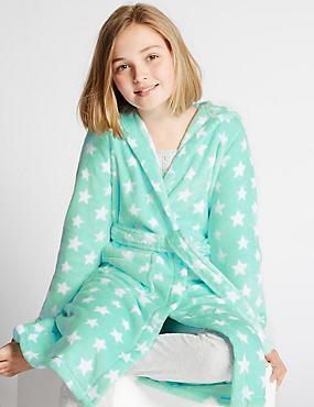 Star Print Dressing Gown (1-16 Years), AQUA MIX, catlanding