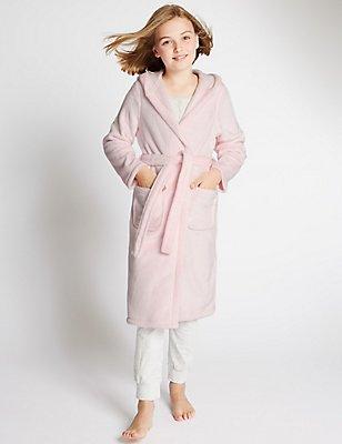 Waist Tie Dressing Gown (1-16 Years), PINK, catlanding
