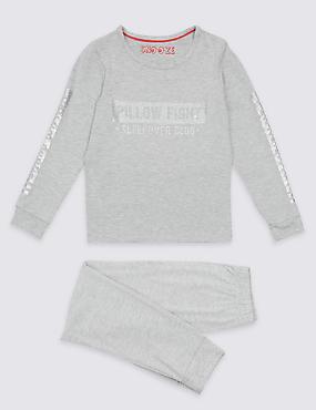 Long Sleeve Pyjamas (3-16 Years), RED MIX, catlanding
