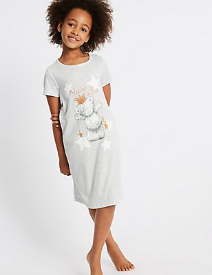 Tatty Teddy™ Nightdress (6-16 Years), GREY MIX, catlanding