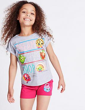 Shopkins – Pyjashort en coton (du 3 au 10ans) , GRIS ASSORTI, catlanding