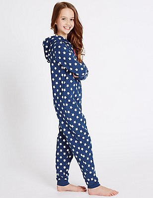 Pure Cotton Football Print Onesie (1-16 Yrs), BLUE MIX, catlanding