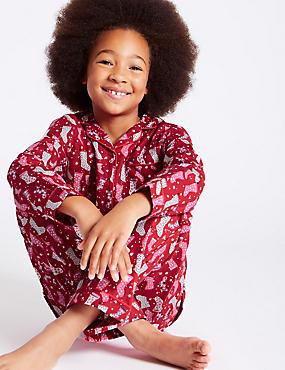 Pure Cotton Pyjamas (1-16 Years), RED MIX, catlanding