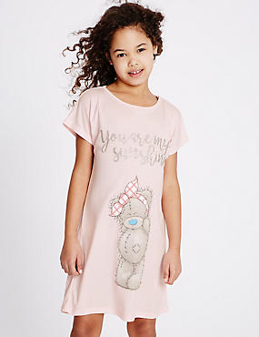 Crew Neck Nightdress (1-16 Years), PINK MIX, catlanding