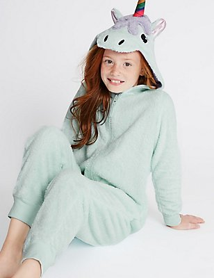 Unity Unicorn Onesie (1-16 Years), AQUA MIX, catlanding