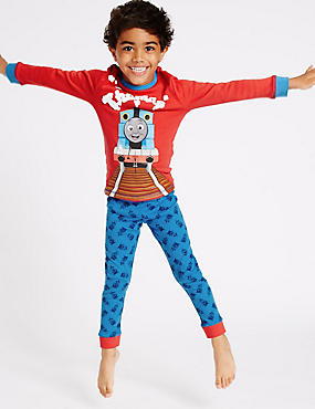 Thomas & Friends™ Long Sleeve Pyjamas (1-6 Years), RED MIX, catlanding