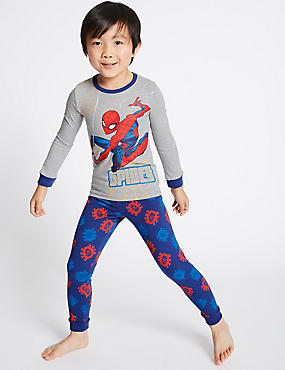 Spiderman™ Pyjamas with Stretch (2-10 Years), GREY MIX, catlanding