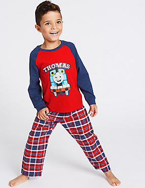 Pure Cotton Thomas & Friends™ Pyjamas (1-6 Years), RED MIX, catlanding