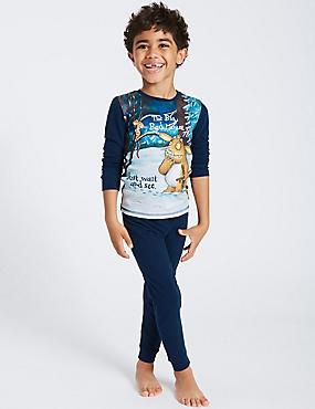 The Gruffalo™ Pyjamas (1-8 Years), BLUE MIX, catlanding