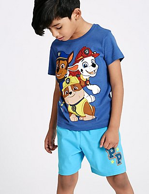 Paw Patrol Cotton Rich Short Pyjamas (1-6 Years), NAVY MIX, catlanding