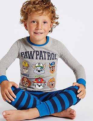 Paw Patrol Cotton Rich Pyjamas (1-6 Years), GREY MIX, catlanding