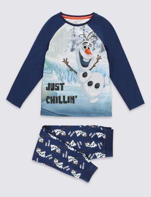 Хлопковая пижама Снеговик Олаф для мальчика 1-6 лет от Marks & Spencer