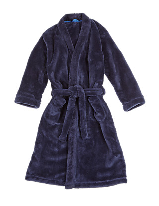 Waist Tie Fluffy Dressing Gown with StayNEW™ (6-16 Years) Clothing