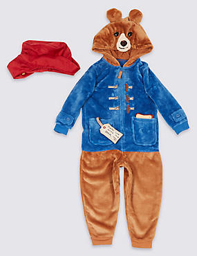 Paddington™ Onesie with Hat (9 Months - 7 Years), BLUE MIX, catlanding