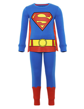 Pure Cotton Superman™ Pyjamas with Cape Clothing