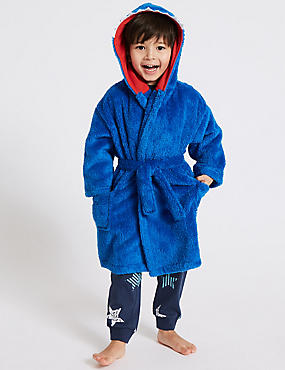 Shark Dressing Gown with Belt (1-8 Years), ROYAL BLUE, catlanding