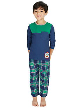 2 Pack Pure Cotton Stay Soft Assorted Pyjamas (1-8 Years)