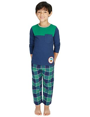 2 Pack Pure Cotton Stay Soft Assorted Pyjamas (1-8 Years), BLUE MIX, catlanding