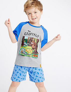 The Gruffalo Pure Cotton Pyjamas (1-8 Years), GREY MIX, catlanding