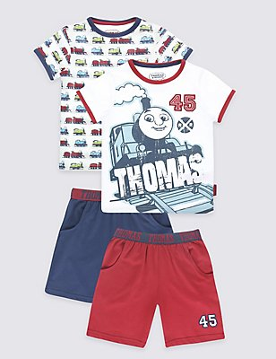Thomas & Friends™ 2 Pack Pyjamas (1-8 Years), CREAM MIX, catlanding