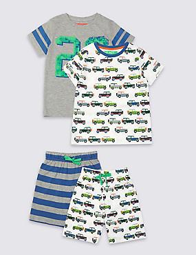 Pack de 2 pijamas cortos (9meses-8años), MEZCLA DE GRISES, catlanding
