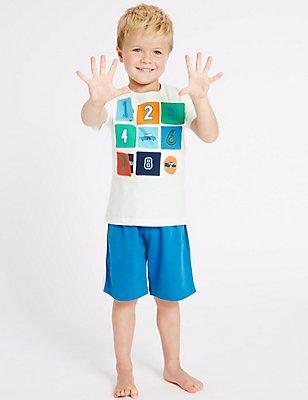 Pure Cotton Short Pyjamas (9 Months - 8 Years), MULTI, catlanding
