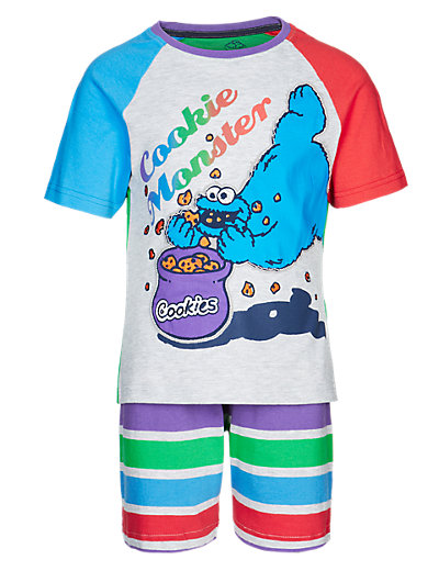 Cotton Rich Cookie Monster Short Pyjamas Clothing