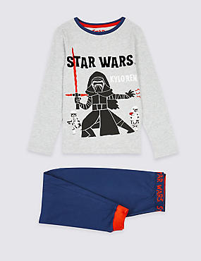 Pure Cotton Star Wars™ Pyjamas (1-8 Years), GREY MIX, catlanding