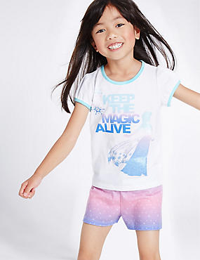 Disney Frozen™ Short Pyjamas (2-10 Years), WHITE MIX, catlanding