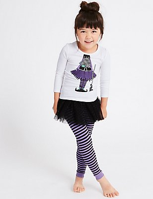 Printed Pyjamas with Tutu (9 Months - 8 Years), LILAC MIX, catlanding