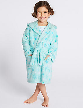 Disney Frozen™ Hooded Gown (2-10 Years), AQUA MIX, catlanding