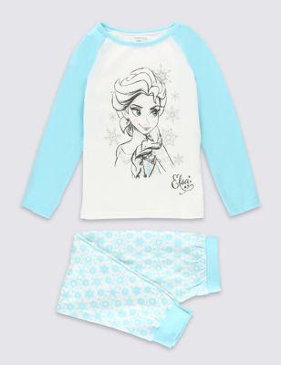 Пижама Эльза из чистого хлопка с блёстками для девочки 1-10 лет