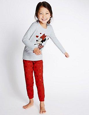 Long Sleeve Minnie Mouse Pyjamas (1-10 Years), GREY MIX, catlanding